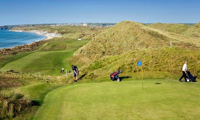 Image of one of the greens at Ballybunion Golf Club, Ballybunion, Co. Kerry, Ireland