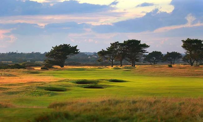 Image of the 13th hole on the blue 9 at Portmarnock Golf Club, Portmarnock, Co. Dublin, Ireland