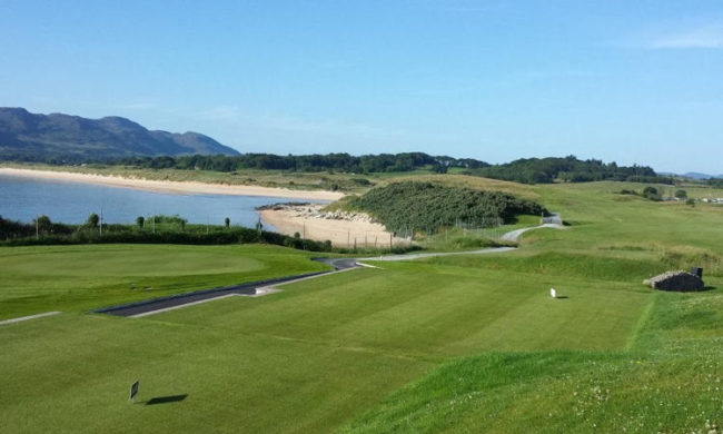 Image from the 1st tee at Portsalon Golf Club, Fanad, Co. Donegal, Ireland